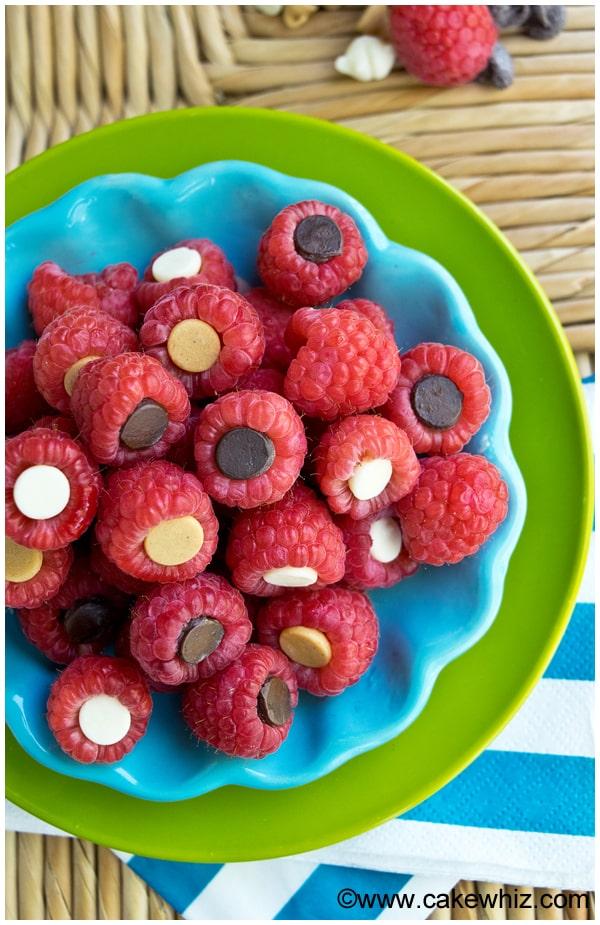 To make these chocolate stuffed raspberries, you will need the ...