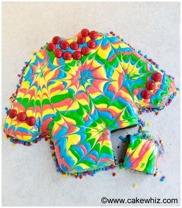 how to make a tie dye shirt cake 3