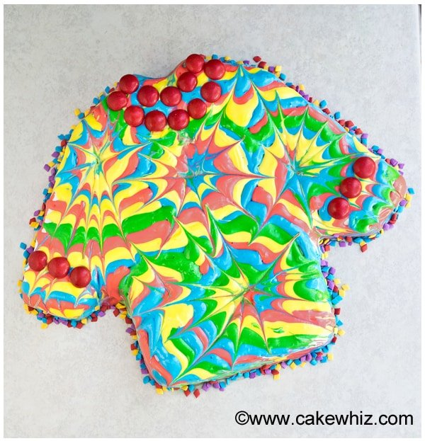 how to make a tie dye shirt cake 4