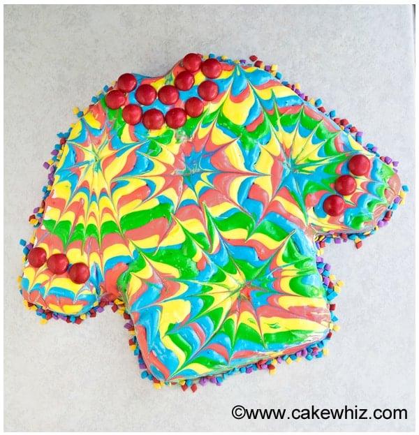 how to make a tie dye shirt cake 4