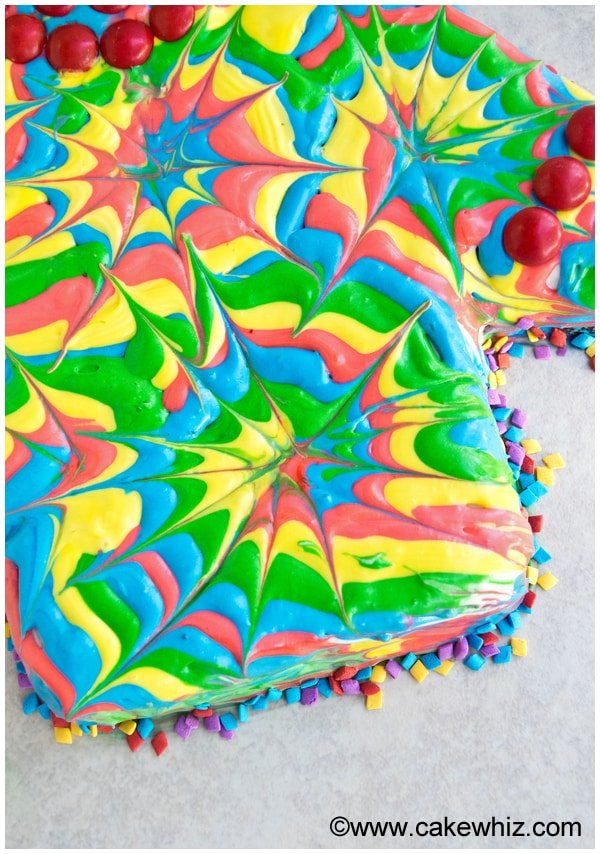 how to make a tie dye shirt cake 6