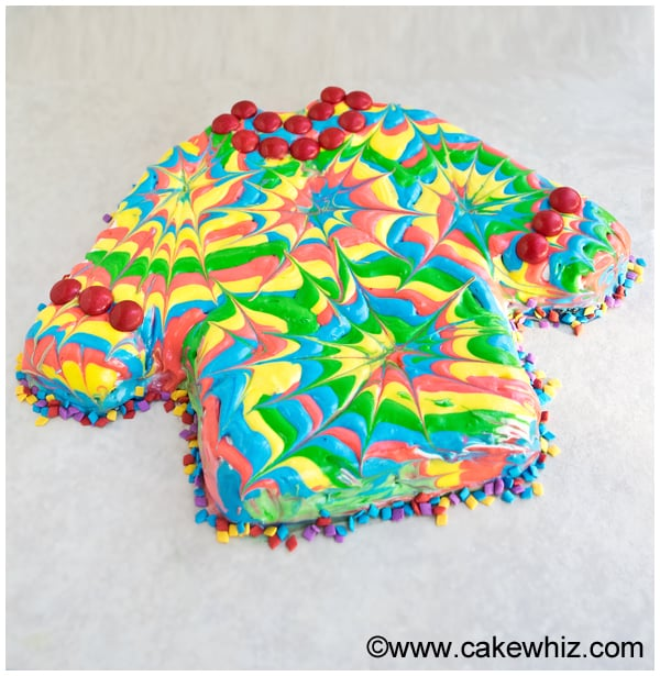 how to make a tie dye shirt cake 7