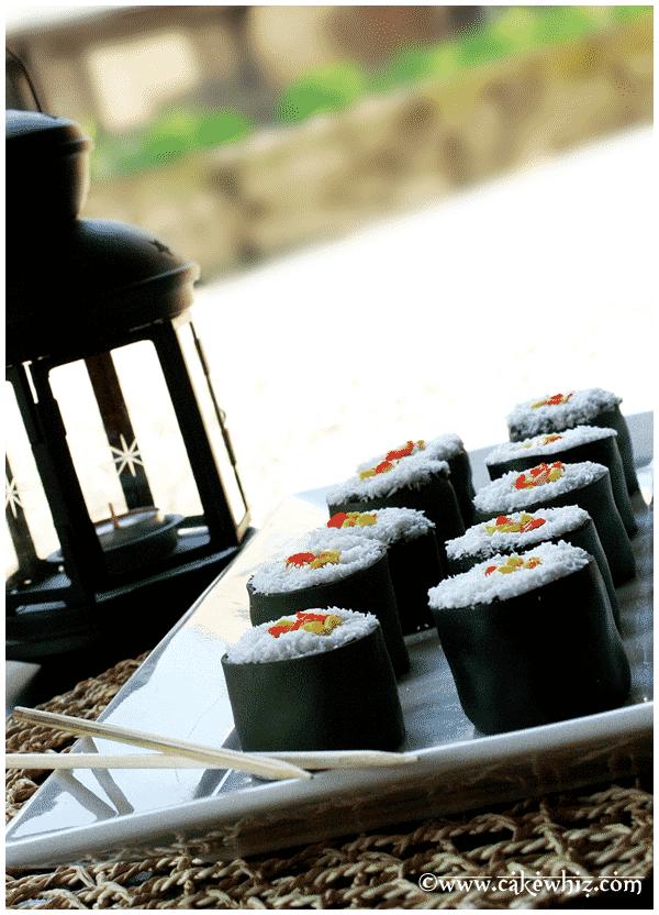 10 fun father's day ideas- mini sushi cakes
