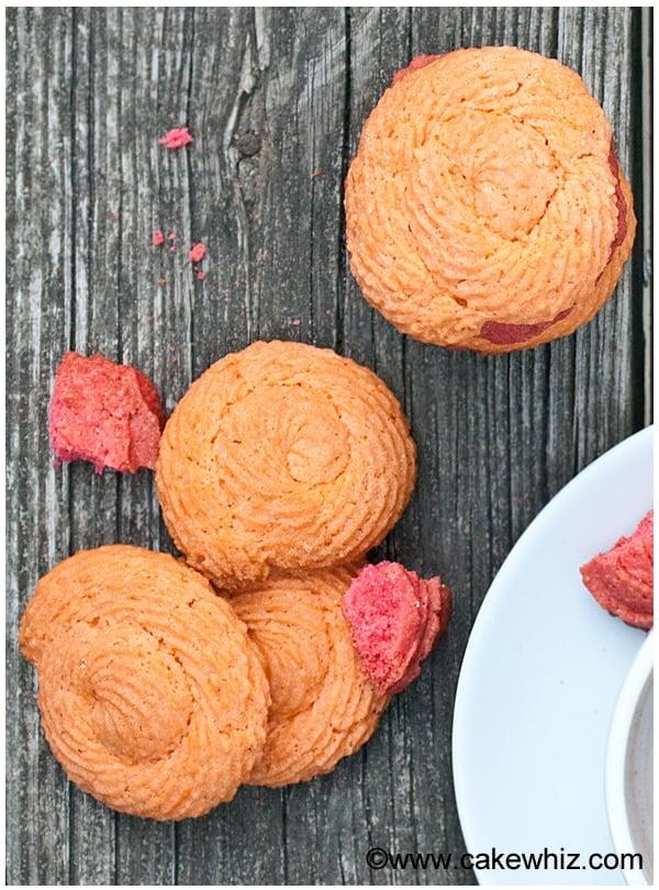 raspberry rose cookies 13