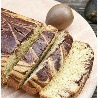 Easy Avocado Cake Recipe with Chocolate Swirls