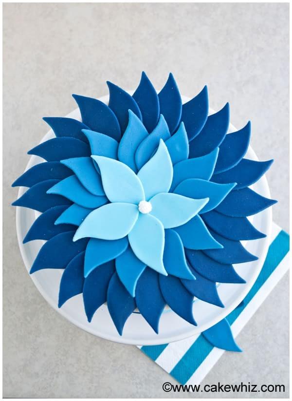 Blue Buttercream Ombré Cake | Mia's Baby Shower Cake ...