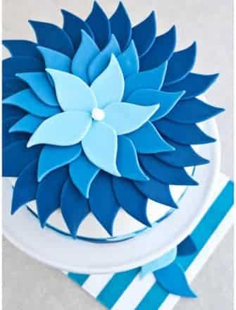 Easy Ombre Cake Technique (Blue Ombre Cake)