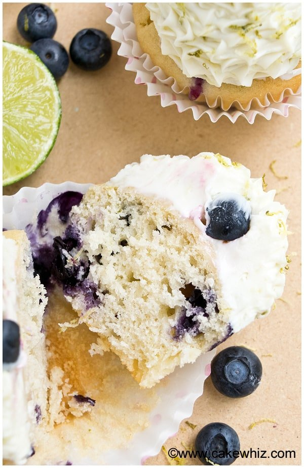 blueberry lime cupcakes 2