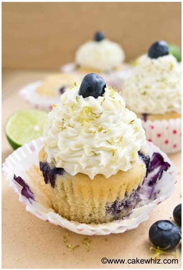 blueberry lime cupcakes 9