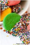 crispy rainbow sugar cookies 4