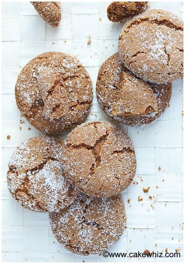 molasses crinkle cookies 1
