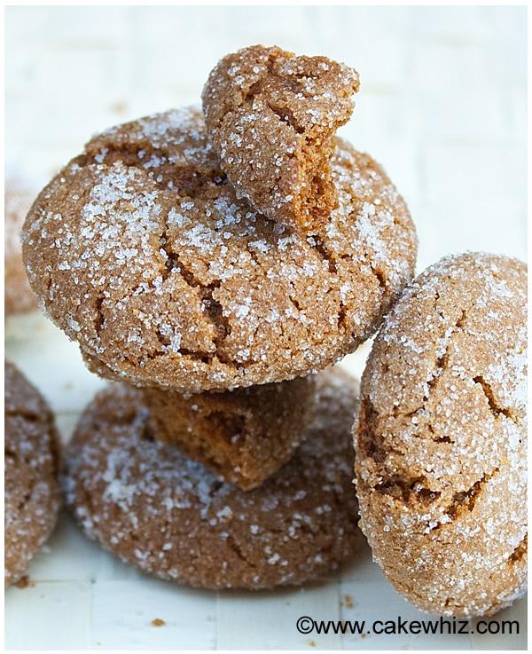 molasses crinkle cookies 2