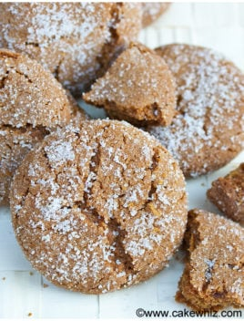 Old Fashioned Molasses Cookies Recipe (Soft and Chewy)