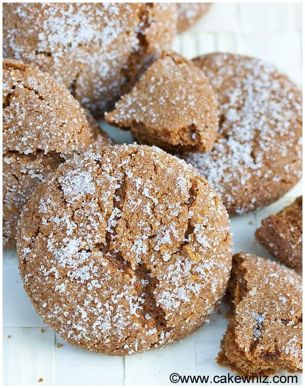 molasses crinkle cookies 3