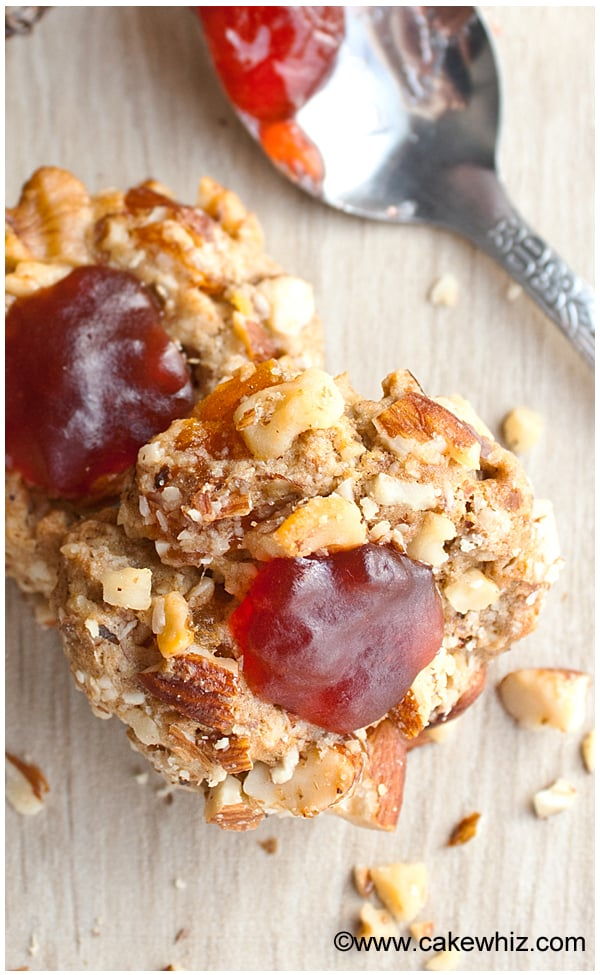 Peanut butter and jelly thumbprint cookies - Cakewhiz
