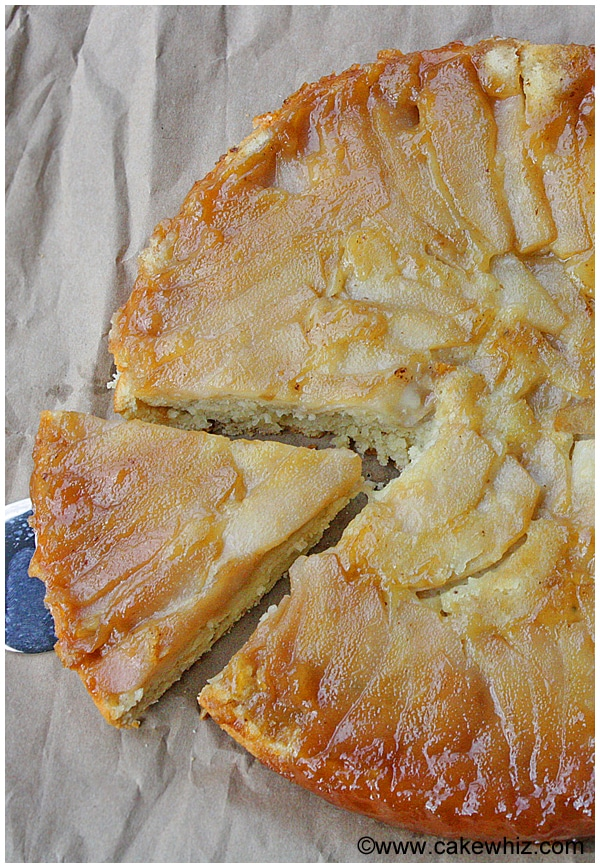 upside down pear and coconut cake 04