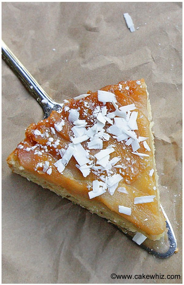 upside down pear and coconut cake 10