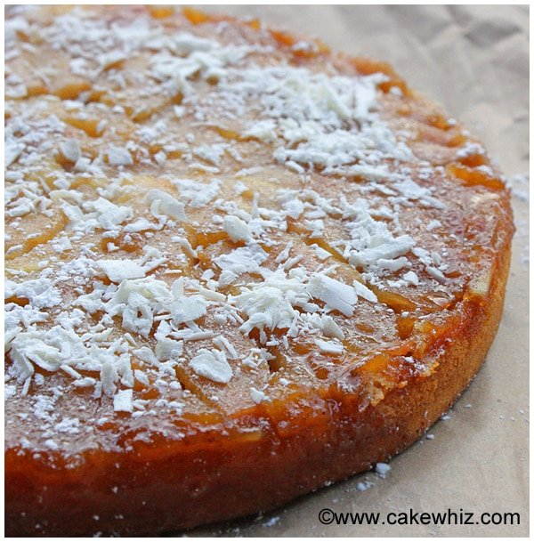 upside down pear and coconut cake 13