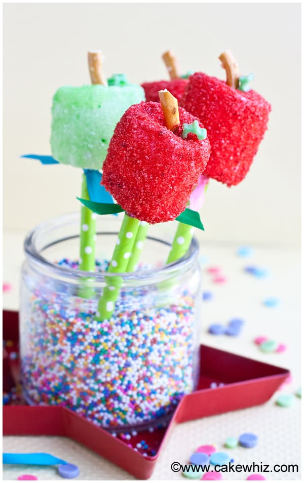 apple marshmallow pops 1