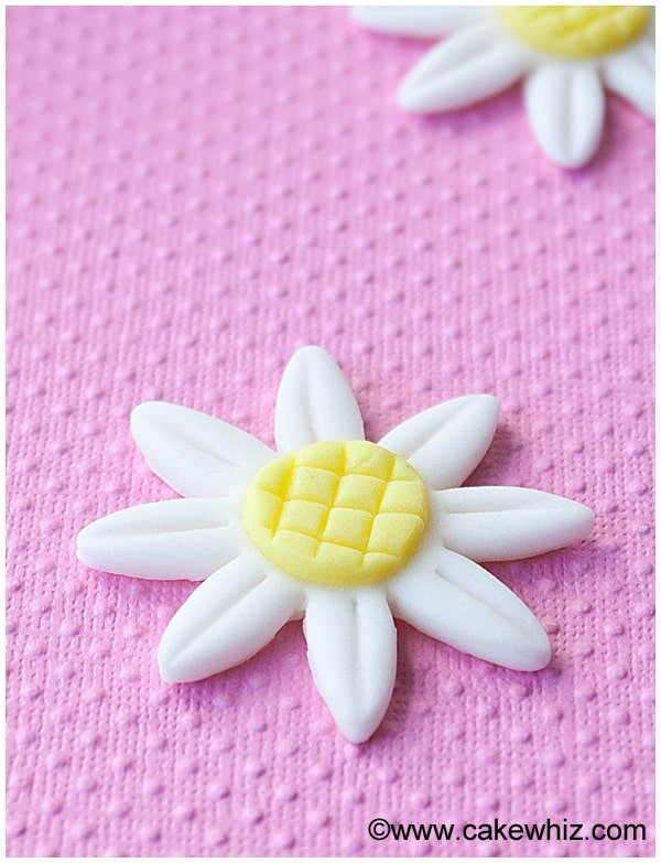 how to make fondant daisies 8