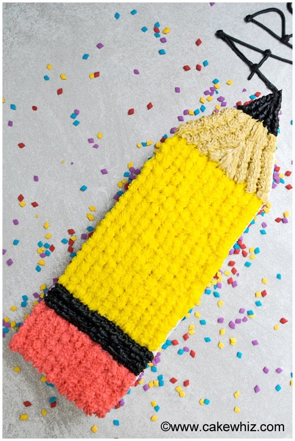back to school pencil cake 01