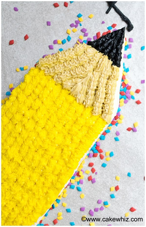 back to school pencil cake 4