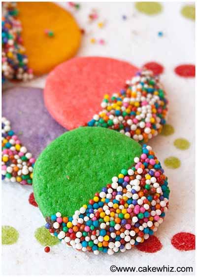 crispy rainbow sugar cookies