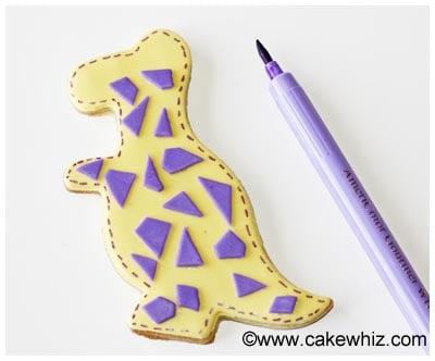 easy dinosaur cookies tutorial 14