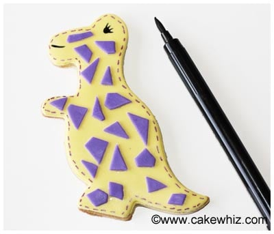 easy dinosaur cookies tutorial 15