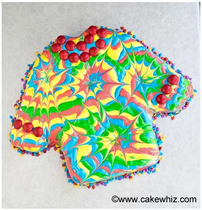 how to make a tie dye shirt cake