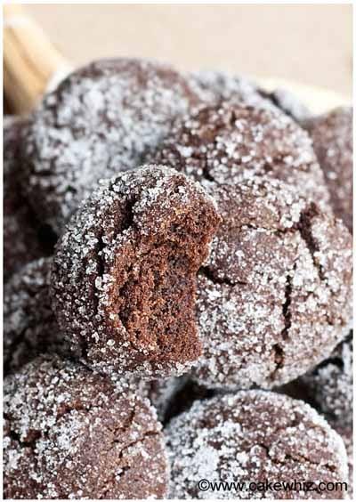 mocha crinkle cookies