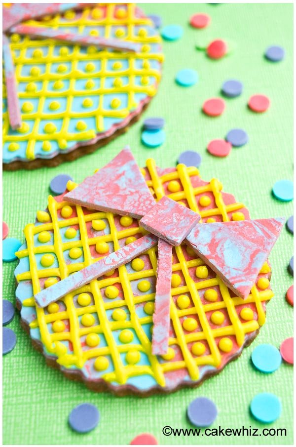 rainbow bow cookies 2
