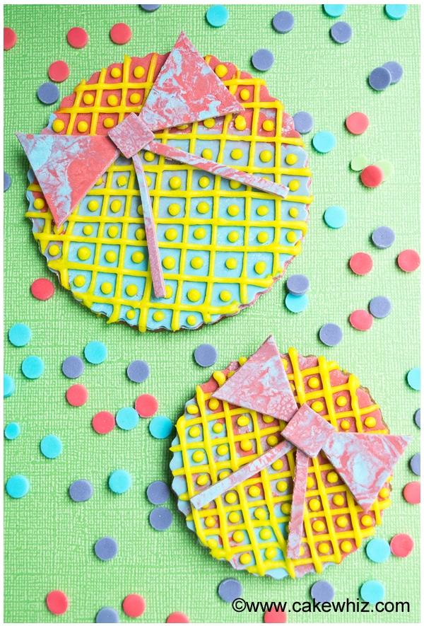 rainbow bow cookies 3