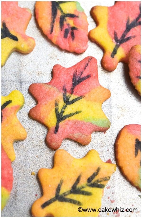 fall leaves sugar cookies 7