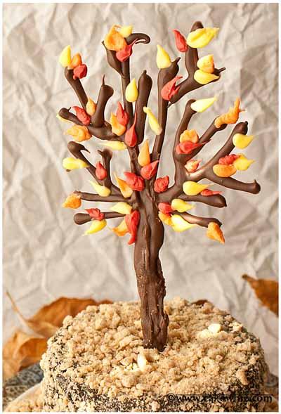 fall-themed-chocolate-tree-cake