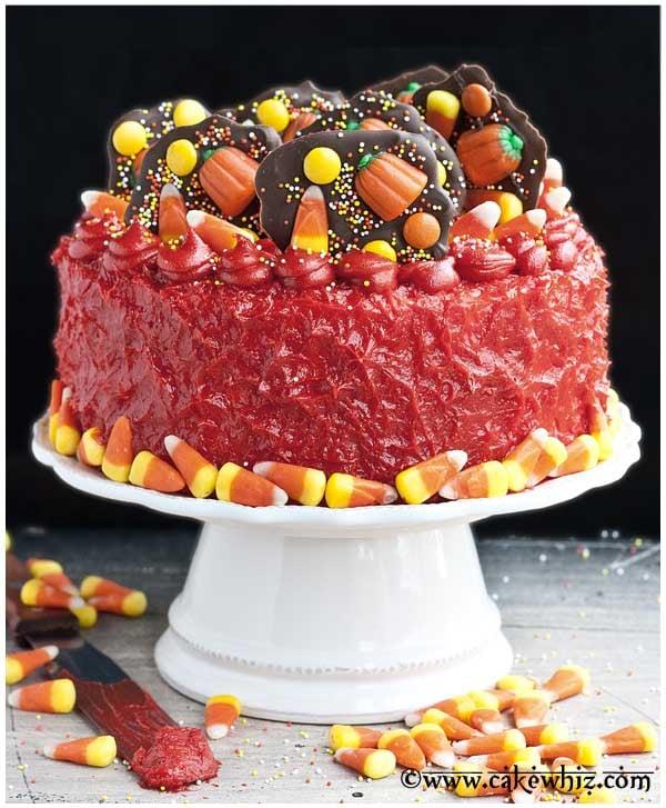 halloween candy overload cake