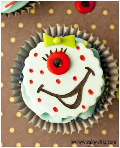 how to make monster cupcake toppers