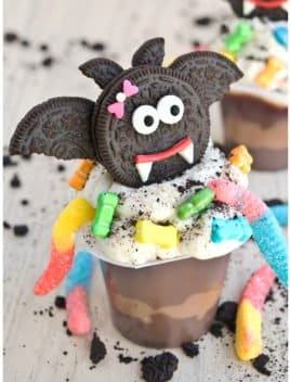 Halloween Dracula Pudding Cups (Quick and Easy)