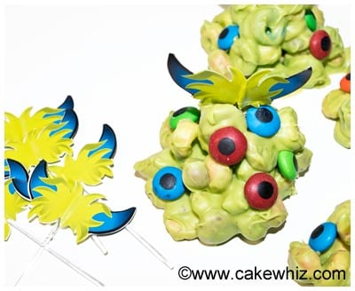 monster blob cupcakes 10