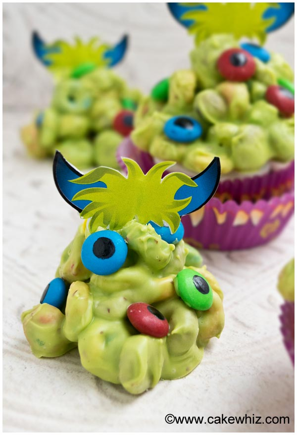 monster blob cupcakes 4