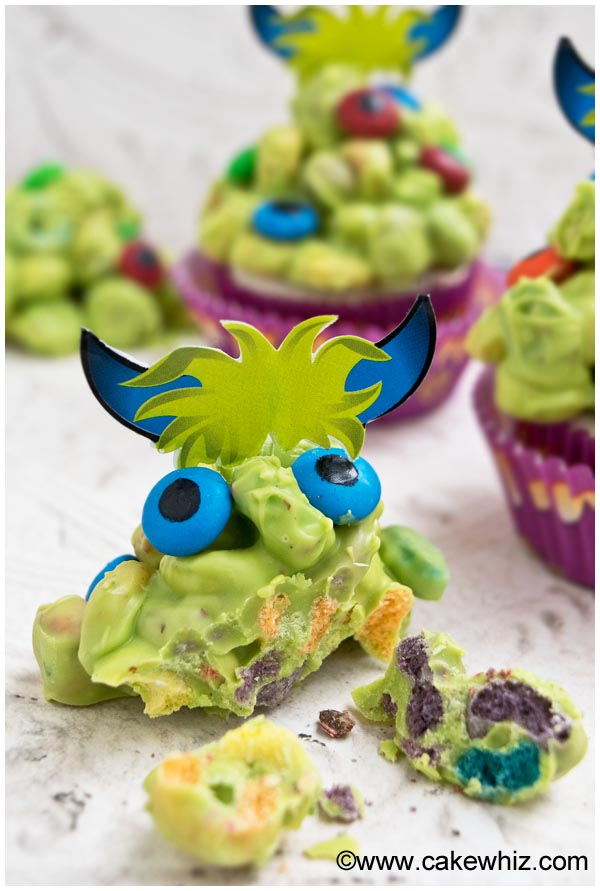 monster blob cupcakes 6