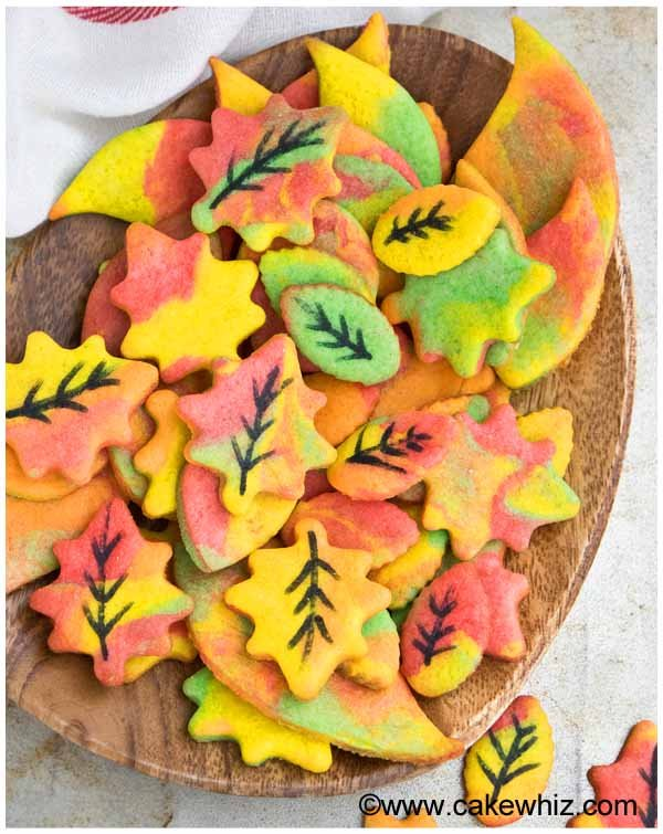 fall sugar cookie leaves