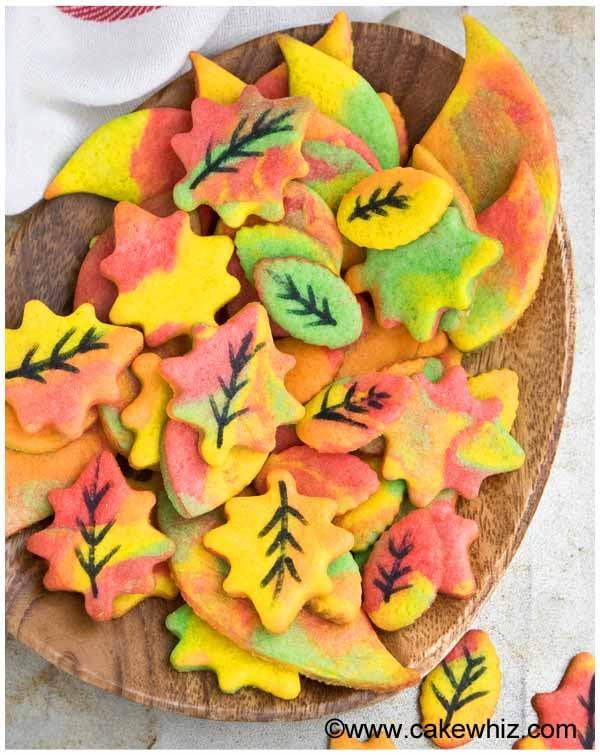 fall sugar cookie leaves