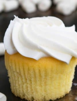Best Easy Moist Vanilla Cupcake Recipe with Vanilla Frosting