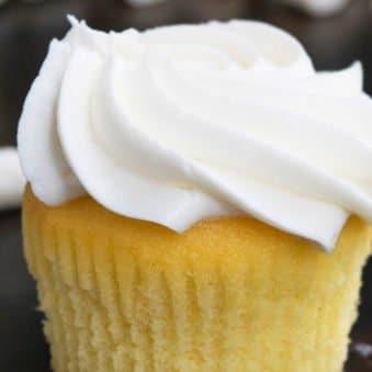 Best Easy Moist Vanilla Cupcake Recipe with Vanilla Frosting