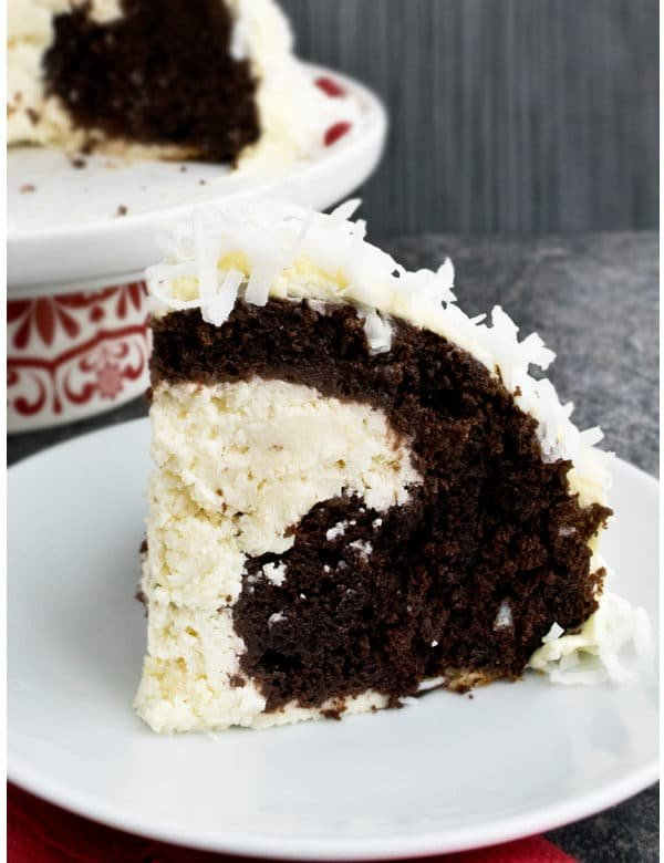 cheesecake stuffed devil's food cake