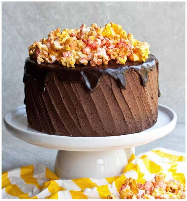 chocolate popcorn cake