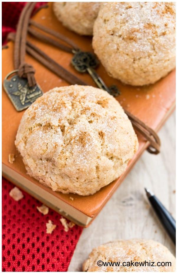 cinnamon crinkle cookies 5