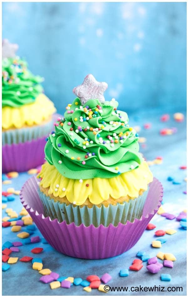 easy christmas tree cupcakes 1