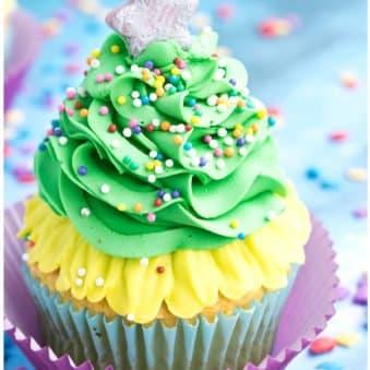 Easy Christmas Tree Cupcakes Recipe/ Tutorial